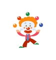 Clown Juggling Simplified Isolated vector image