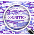 COGNITION vector image