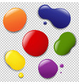 colorful blobs set vector image vector image