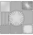 comic page monochrome background vector image
