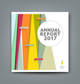cover new annual report colorful pattern design vector image vector image