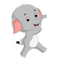 cute baby elephant cartoon vector image vector image