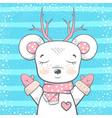 cute bear deer - baby vector image vector image