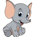 cute funny baelephant vector image vector image