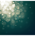 Decorative christmas background with bokeh lights vector image