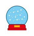 decorative crystal ball icon vector image vector image