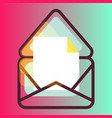 e-mail message gradient icon vector image