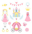 fairy tale pictures of princess and other magician vector image vector image