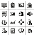 Finance icons set black vector image vector image