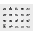 Flat Email icons set vector image vector image