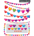 garland of hearts vector image vector image