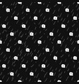 geometric monochrome seamless pattern vector image vector image