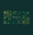 gmo concept colorful outline vector image vector image