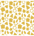 gold christmas holiday pattern vector image