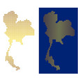 gold dotted thailand map vector image vector image