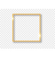 gold shiny glowing frame with shadows isolated on vector image vector image