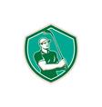Golfer Tee Off Golf Shield Retro vector image vector image