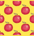 hand drawn engraved apple seamless pattern vector image