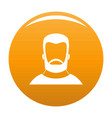 hipster icon orange vector image vector image