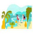 hot tour travel for vacation at summer man vector image