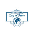 international day of peace logo design vector image vector image