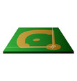 isolated baseball field vector image vector image