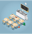 isometric chemistry classroom vector image vector image
