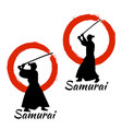 Japanese samurai warriors silhouette