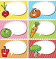 Label design with fresh vegetables vector image