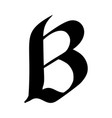 letter b painted brush vector image vector image