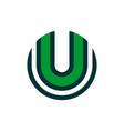 letter u abstract logo icon green concept vector image