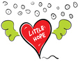 little hope in heart cartoon vector image vector image
