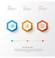 management icons set collection of cv global vector image