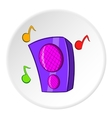 Music column icon cartoon style vector image