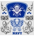 NAVY Military Design - vector image vector image