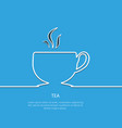 outline tea background eps 10 vector image