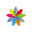 Rainbow abstract flower template logo spa or vector image