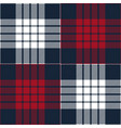 red and blue mix tartan plaid scottish pattern vector image vector image