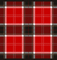 red tartan plaid seamless pattern vector image vector image