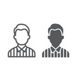 referee line and glyph icon sport and soccer man vector image