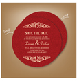round red save the date card vector image