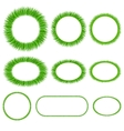 Set of grass frameworks vector image vector image