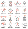 Set of icons related to business management - 39 vector image vector image