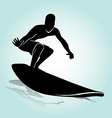Silhouette Surfer vector image vector image