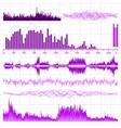 sound waves elements vector image