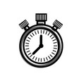 stopwatch time management control planning concept vector image vector image