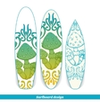 Surfboard Design Abstract Mushroom One vector image
