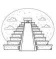 teotihuacan pyramid of the sun and pyramid of the vector image vector image