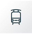 train icon line symbol premium quality isolated vector image