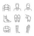 trauma treatment linear icons set vector image vector image